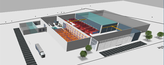 Lagerplanung einer Fabrik